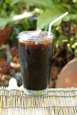 Thai style black coffee — Stock Photo