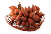 Salacca or zalacca tropical fruit in basket — Foto Stock