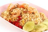 Fried rice with shrimp — Stock Photo
