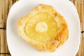 Danish pastry with pineapple — Zdjęcie stockowe