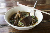 Noodles with pot-stewed duck  — Stock Photo