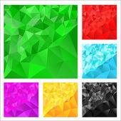 三角形と背景 — ストックベクタ