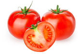 Tomato isolated on white — Photo
