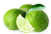 Lime isolated on white background — Stock Photo