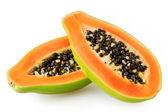 Papaya isolated on white background — Stock Photo