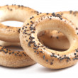 Bread rings with poppyseeds — Stock Photo