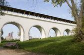 Rostokino aqueduct — Stock Photo