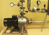 Pump, connecting pipes and control elements — Zdjęcie stockowe