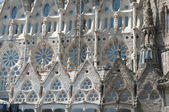 Sagrada Familia (Holy Family) church in Barcelona, fragment — Stock Photo
