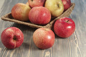 Beautiful red apples — Stock Photo