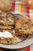 Potato flapjack (draniki)  — Stock Photo
