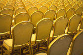 Chairs arranged — Stock Photo