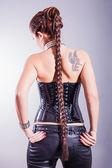 Beautiful slim woman with long hair — Stock Photo