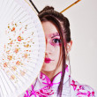 Stock Photo: Geisha. traditional make up
