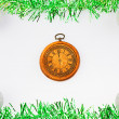 Ristmas watch presenting midnight — 图库照片