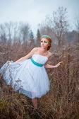Delicate mysterious bride — Stok fotoğraf