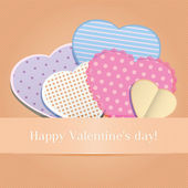Postcard Valentine's Day with hearts set of envelope — Vetorial Stock