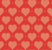 Seamless texture knitted winter Valentine's Day — ストックベクタ