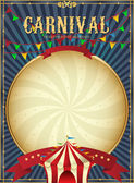 Vintage carnival. Circus poster template. Vector illustration. — Stock Vector