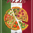 Постер, плакат: Pizza Menu Template vector illustration