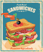 Sandwiches. American style. — Stock Vector