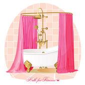 浴。豪华浴室. — 图库矢量图片
