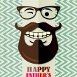 Father's day card in vintage hipster style. Retro poster. — Stock vektor #47116655