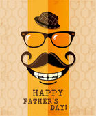 Father's day card in vintage hipster style. Retro poster. — Cтоковый вектор