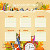 School Timetable. Schedule. — Stock Vector