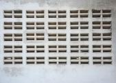 Ventilation void on concrete wall — Stockfoto