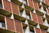 Elevation facade of building in bangkok,Thailand — Stock Photo