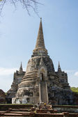 Old Temple Architecture , Wat Phra si sanphet at Ayutthaya, Thailand, World Heritage Site — Stock Photo