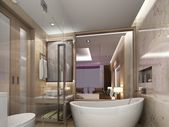 Badezimmer Interieur, 3d Render — Stockfoto