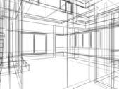 Sketch design of interior — Stock Photo