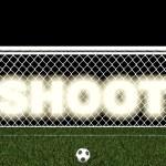 Постер, плакат: Shoot penalty area