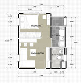 Lay-out plan of interior residence — Stock Photo