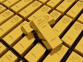 Many Gold bars or Ingot — Stock Photo