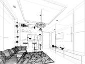 Skizze design des inneren lebens — Stockfoto