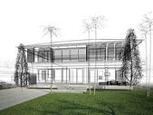 Sketch design of house — Stock Photo