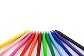 Crayones aislados sobre fondo blanco — Foto de Stock