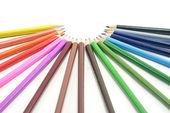 цветные карандаши, изолированные на белом фоне — Стоковое фото