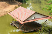 Floating house in river, Thailand — Stock Photo