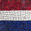 Stock Photo: Mosaic flag of Netherland