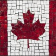 Mosaic flag of Canada — Stock Photo