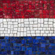 Mosaic flag of Netherland — Stock Photo