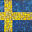 Mosaic flag of Sweden — Stock Photo