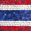 Mosaic flag of Thailand — Stock Photo