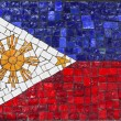 Mosaic flag of Philippines — Stock Photo