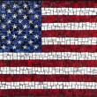 Mosaic United States of America flag — Stock Photo