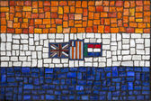 Mosaic flag of South Africa — Stock Photo